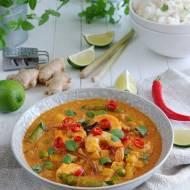 Czerwone curry po tajsku z krewetkami i dynią