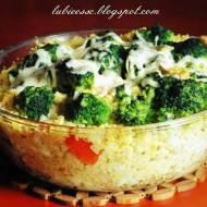 Zapiekanka z kaszy jaglanej z brokułami