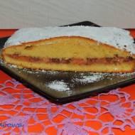 Ciasto grysikowe z brzoskwiniowym dżemem