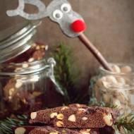 Czekoladowe biscotti z pistacjami i migdałami