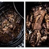 Duszone w wolnowarze żeberka w ostrym sosie śliwkowym