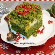 Ciasto leśny mech -ciasto ze szpinaku