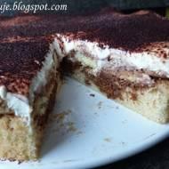 Ciasto Tiramisu z Kremem Kawowym