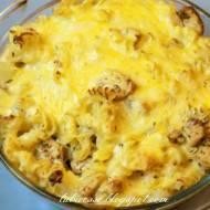 Zapiekanka makaronowa z kurczakiem i ananasem (hawajska)