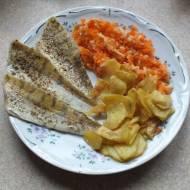 Filet z sandacza z warzywami