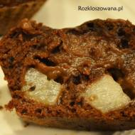 Muffinki z budyniem i gruszką