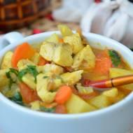 Zupa rybna curry z imbirem