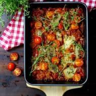 Mintaj pieczony w pomidorach