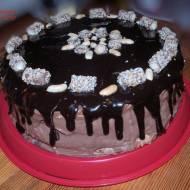 Rocher - czyli tort obłędnie czekoladowy z orzechami