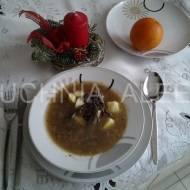 Zupa grzybowa na żurku wg Iwony