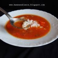 Zupa pomidorowo-dyniowa bez zabielania ( z ryżem )