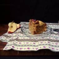 Proste ciasto kokosowe. Z jabłkami i żurawiną