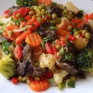 Wątróbka z warzywami