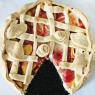 Tarta z dżemem wiśniowym i jabłkami