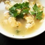 Zupa z zapiekanym kalafiorem
