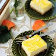 Kostka sernikowa z lemon curd…