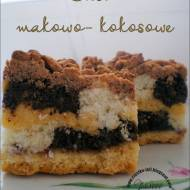 Ciasto makowo - kokosowe