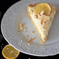 Tarta cytrynowa z białymi michałkami