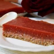 ciasto z batata z malinową galaretką , bez pieczenia (WEGAN)