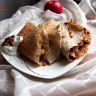 Naleśniki gryczane z jabłkiem i bakaliami - zdrowe i bezglutenowe