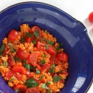 Kasza jaglana z pomidorkami cherry