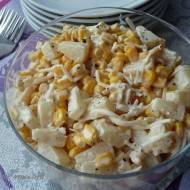 Sałatka awaryjna z ananasa, kukurydzy i selera