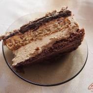 Tort orzechowo kajmakowy z kremem kawowym