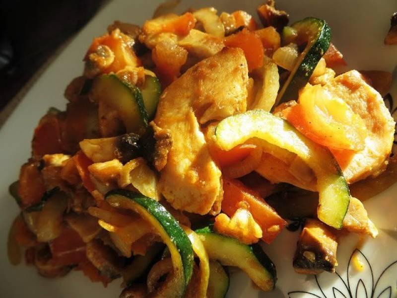 Pierś z warzywami.