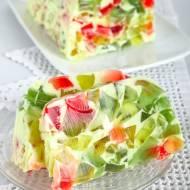 Kolorowy deser z galaretką- salceson.