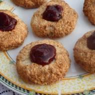 Ciasteczka koksowo-migdałowe z dżemem