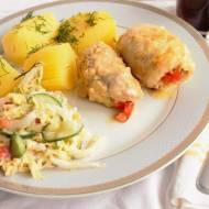 Roladki z serem pleśniowym i papryką