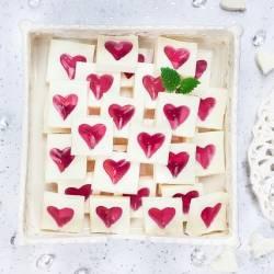 Walentynkowe śmietankowe żelki z serduszkami