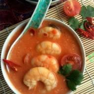 Zupa z krewetkami i mlekiem kokosowym