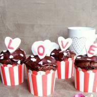 Walentynkowe muffiny czekoladowe