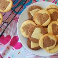 Maślane ciasteczka walentynkowe