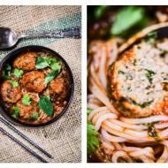 Klopsiki z perillą zieloną (kinh gio) w sosie pomidorowo-kolendrowym