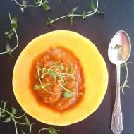 Orientalna zupa krem z pieczonych warzyw i z dynią piżmową. Niezwykle zdrowa i aromatyczna. Post dr Dąbrowskiej.