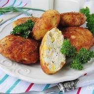 Klopsy drobiowe z jajkiem i kukurydzą