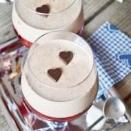 Deser herbaciany z truskawkami i czekoladą