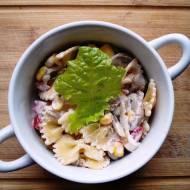 Sosy FOLWARK - Makaronowa sałatka z pieczarkami