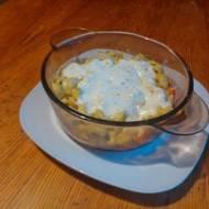 zapiekanka z tortellini ze szpinakiem wegetariańska