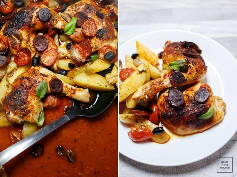 Przepis Na Udka Kurczaka Po Hiszpansku Pelny Obiad Z Jednej Blachy