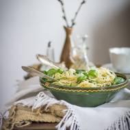 Spaghetti z zielonymi warzywami