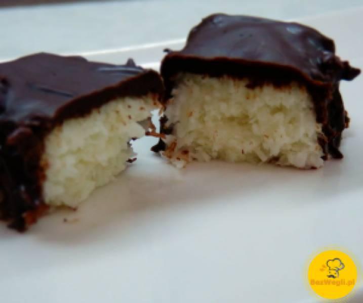 Batoniki kokosowe w polewie czekoladowej