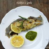 Halibut z  grilla