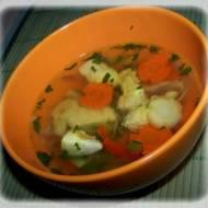 Lekka i szybka zupa z piersi kurczaka.