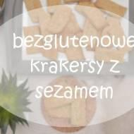 bezglutenowe krakersy z sezamem