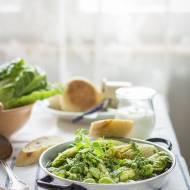 Lekka potrawka z zielonych warzyw