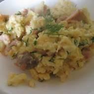 Szybkie śniadanie - jajecznica z łososiem