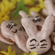 Makaroniki króliczki z kremem czekoladowym (macarons bunny's)
